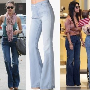 7 For All Mankind Georgia High-Waist Flare Jeans